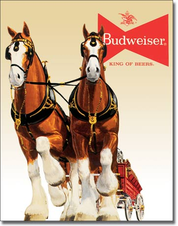 Bud-Clydesdale-Metal-Sign